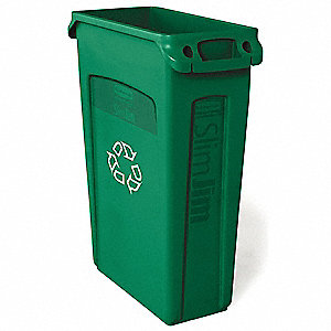 Slim Jim® 23 gal. Green, Plastic Utility Container