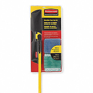 "Microfiber Pad, Wet/Dry Floor Kit, 55"" Handle Length, 1 EA"