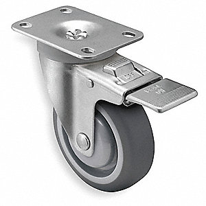 5'' Swivel Plate Caster w/Total-Lock, 315 lb. Load Rating