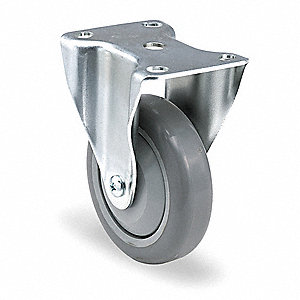 "3"" Rigid Plate Caster, 210 lb. Load Rating"