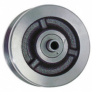 "4"" Caster Wheel, 800 lb. Load Rating, Wheel Width 1-1/2"", Cast Iron, Fits Axle 1/2"""