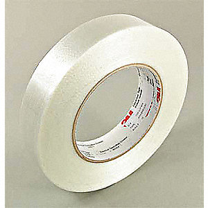 "Translucent Polyester Electrical Tape, 1/2"" Width, 180 ft. Length, 6.5 mil Thickness"