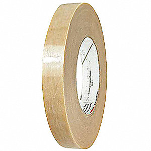 "Clear Polyester Web Reinforced Electrical Tape, 1/4"" Width, 270 ft. Length, 5.5 mil Thickness"