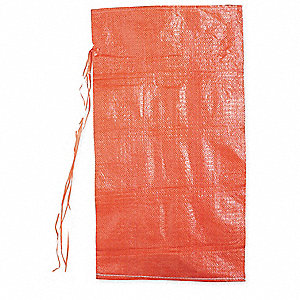 "Orange Sand Bag, 26"" Length, 14"" Width, 40 lb. Weight Capacity"