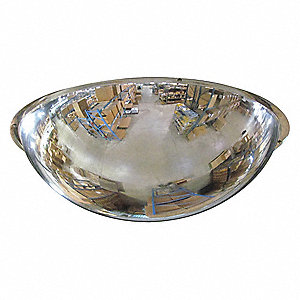 Full Dome Mirror,48In.,Scratch Res Acryl