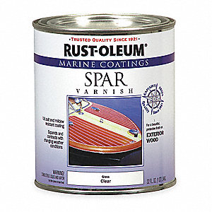 Clear Spar Varnish, Clear Finish, 125 to 500 sq. ft./gal. Coverage, Size: 1 qt.