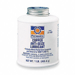 Anti-Seize Compound,Copper,1-Lb. Bottle
