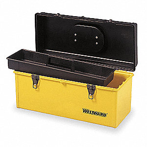 "Portable Tool Box, Plastic, 20"" Overall Width x 8-1/2"" Overall Depth"