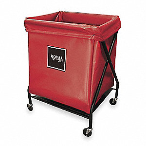 X-Frame Cart,8 Bu,Red Vinyl
