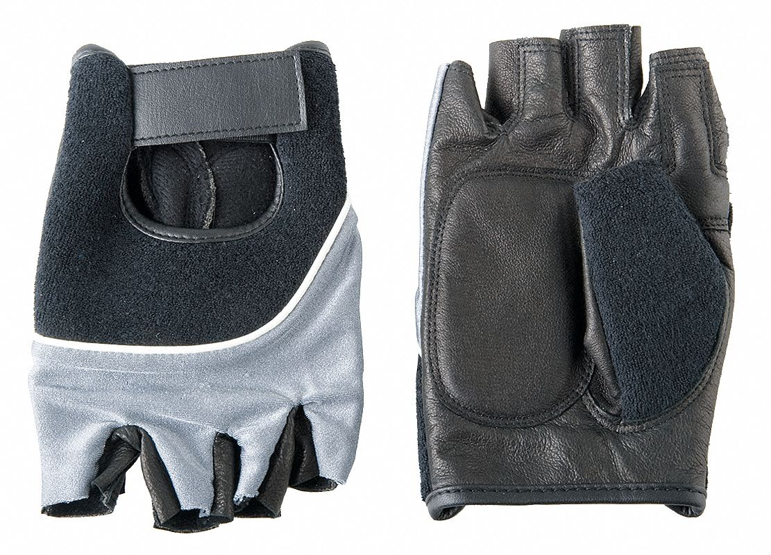 Condor Anti Vibration Gloves Leather Palm Material Black