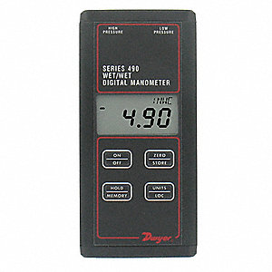 Digital Hydronic Manometer,0 to 15 PSI
