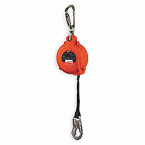 Self-Retrcting Lifeline,20 ft,Red,400 lb