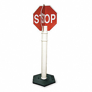 "Text Stop, High Intensity Prismatic Plastic Stop Sign, Height 56"", Width 18"""