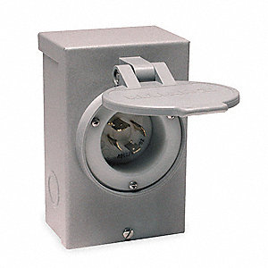 Power Inlet Box, Mounting: Wall