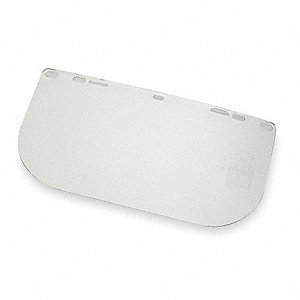 Face Shield,Clear,PETG,15-1/2 In. W