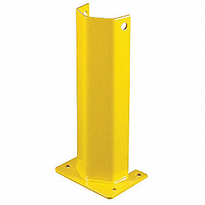 "Pallet Rack Protector, Steel, 8"" Overall Width, 24"" Overall Height, 4"" Overall Length"