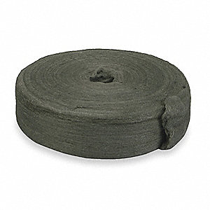 Carbon Steel Wool Reel, Medium Grit, 1 EA