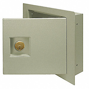 Wall Safe,Keyable,670 Cu-In