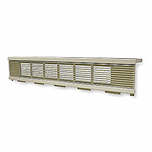 Cabinet Unit Heater Grille,6-1/2 In. H