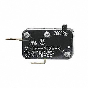 Miniature Snap Action Switch, SPST-NC Contact Form, 15A Current Rating
