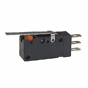 Miniature Sealed Snap Switch, SPDT Contact Form, 125/250VAC Voltage Rating, 3A Current Rating