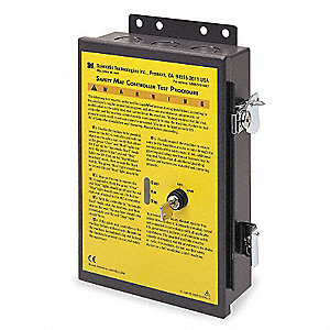 Wall-Mount Safety Mat Controller, 3 Input, 100 to 240VAC
