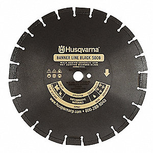 "20"" Wet Diamond Saw Blade, Segmented Rim Type"