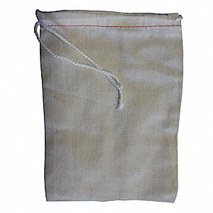"Double Drawstring Parts Bag, Natural Cotton, Width 2-3/4"", Length 4"", 100 PK"