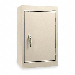 "Putty Wall Mount Storage Cabinet, 26"" Overall Height, 18"" Overall Width, Number of Shelves 1"