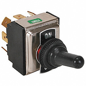 Toggle Switch,3PDT,15A @ 277V,QuikConnct