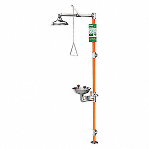 Drench Shower With Eyewash,16 In. W