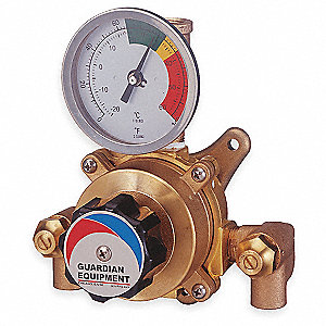 Mixing Valve,Brass,8 gpm,85 to 100 Deg F