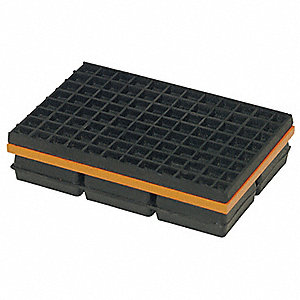 Mason Vibration Isolation Pad 4x4x1 1 4 In 2lvp1 2lvp1