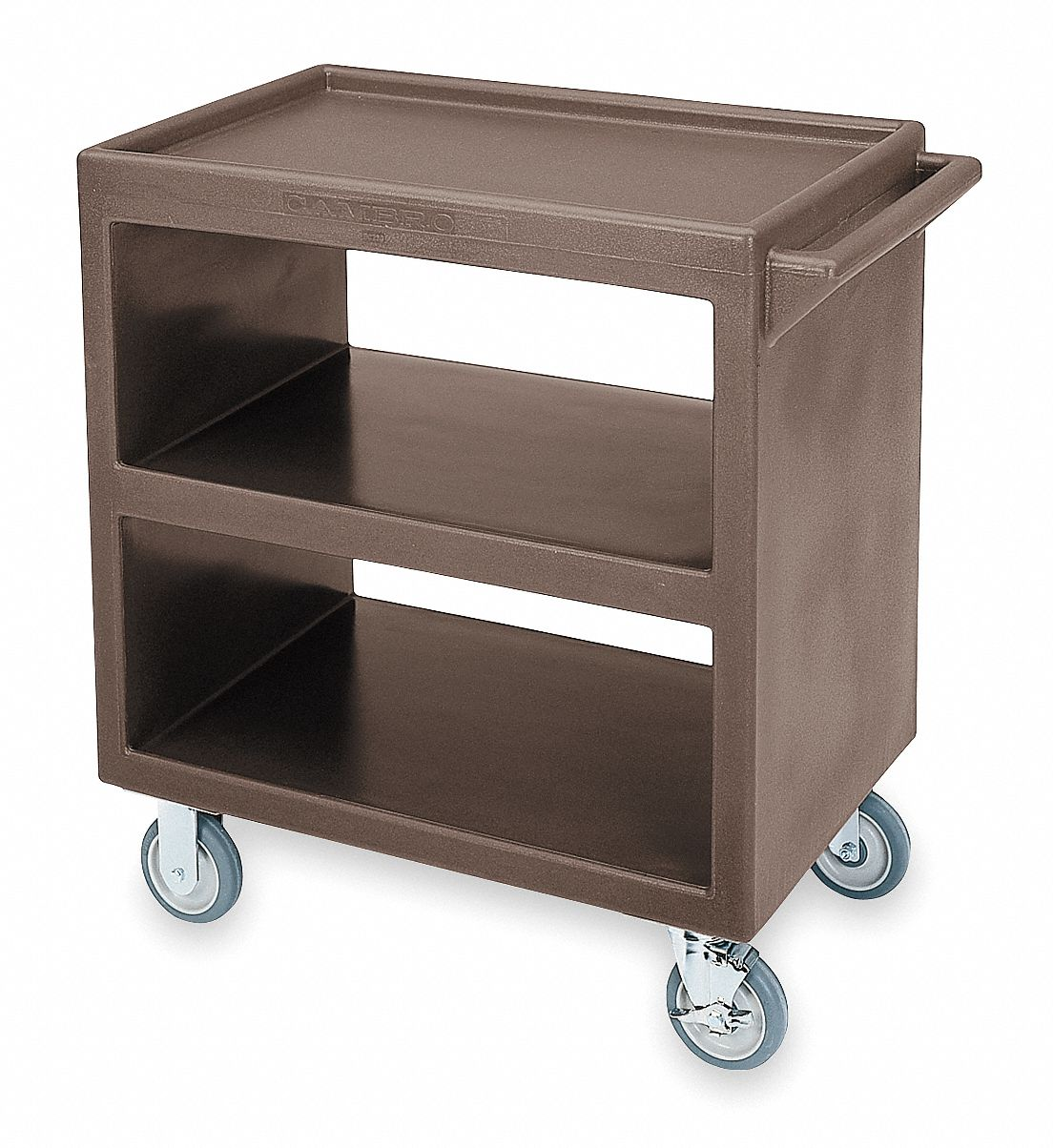 Cambro 33 1 4 Quot X 20 Quot X 34 5 8 Quot Polyethylene Service Cart With 500 Lb Load Capacity Brown