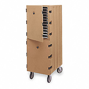 Food Delivery Cart,Trays,Tamper,Brown