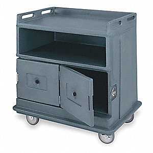 Beverage Service Cart,Poly,Gray
