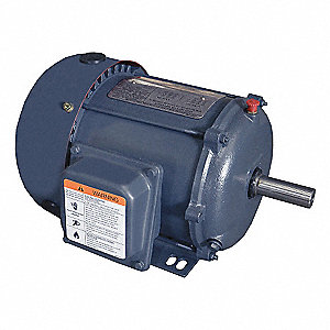 1-1/2 HP General Purpose Motor,3-Phase,3485 Nameplate RPM,Voltage 208-230/460,Frame 143T