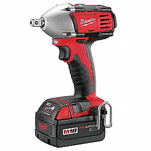 "1/2"" Cordless Impact Wrench Kit, Voltage 18.0 Li-Ion, Battery Included"