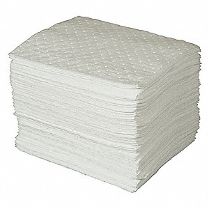 Absorbent Pads,30 gal.,15 In. W,PK100