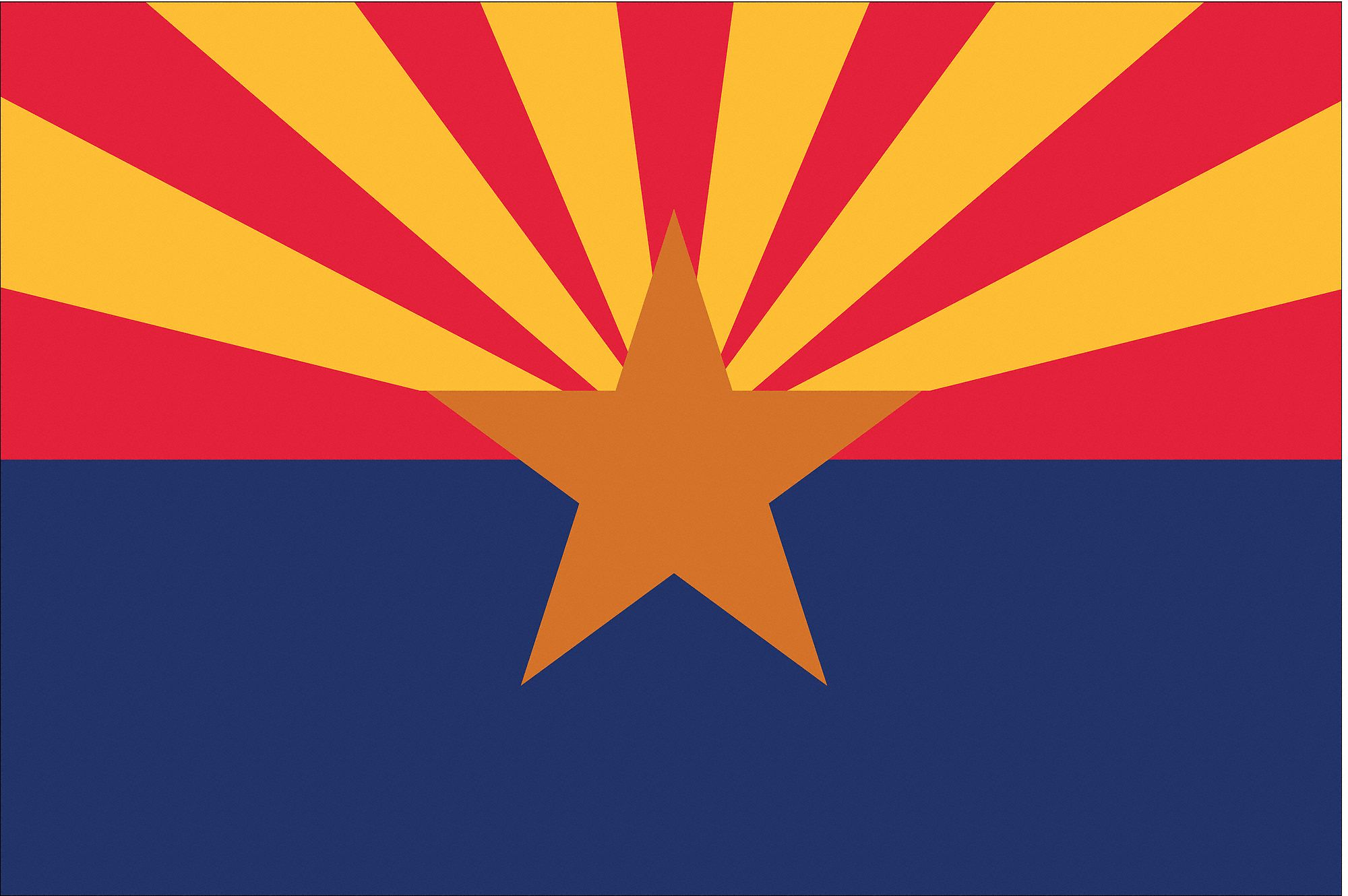 Nylglo Arizona State Flag 3 Ft H X 5 Ft W Outdoor