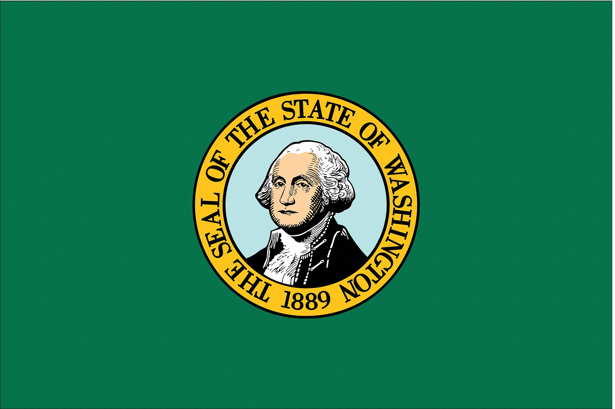 Nylglo Washington State Flag 3 Ft H X 5 Ft W Outdoor