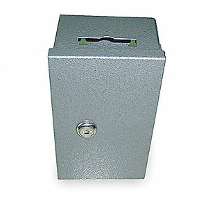 Key Drop Box, Single Key, Keyed Different, 0 Key Capacity, Mounting Type: Surface