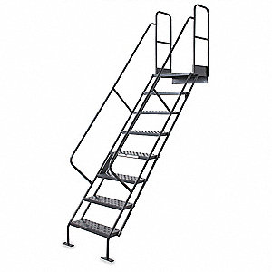 Stair Unit, Steel, 450 lb. Load Capacity, Number of Steps: 9