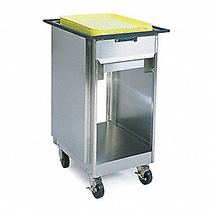 Tray Dispenser Cart,Stainless,27x24x37