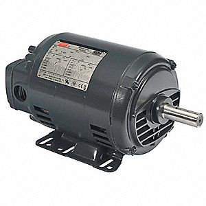 3 HP General Purpose Motor,3-Phase,3490 Nameplate RPM,Voltage 208-230/460,Frame 143-5T/56HZ