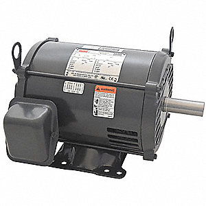 3 HP General Purpose Motor,3-Phase,1770 Nameplate RPM,Voltage 208-230/460,Frame 182/4T