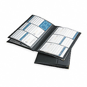 Business Card Book, 192 Ct, Vinyl