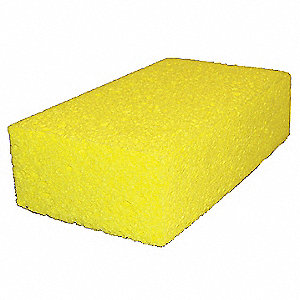 "Yellow, cellulose Sponge, Length 4-5/16"", Width 7-1/2"", 1 EA"