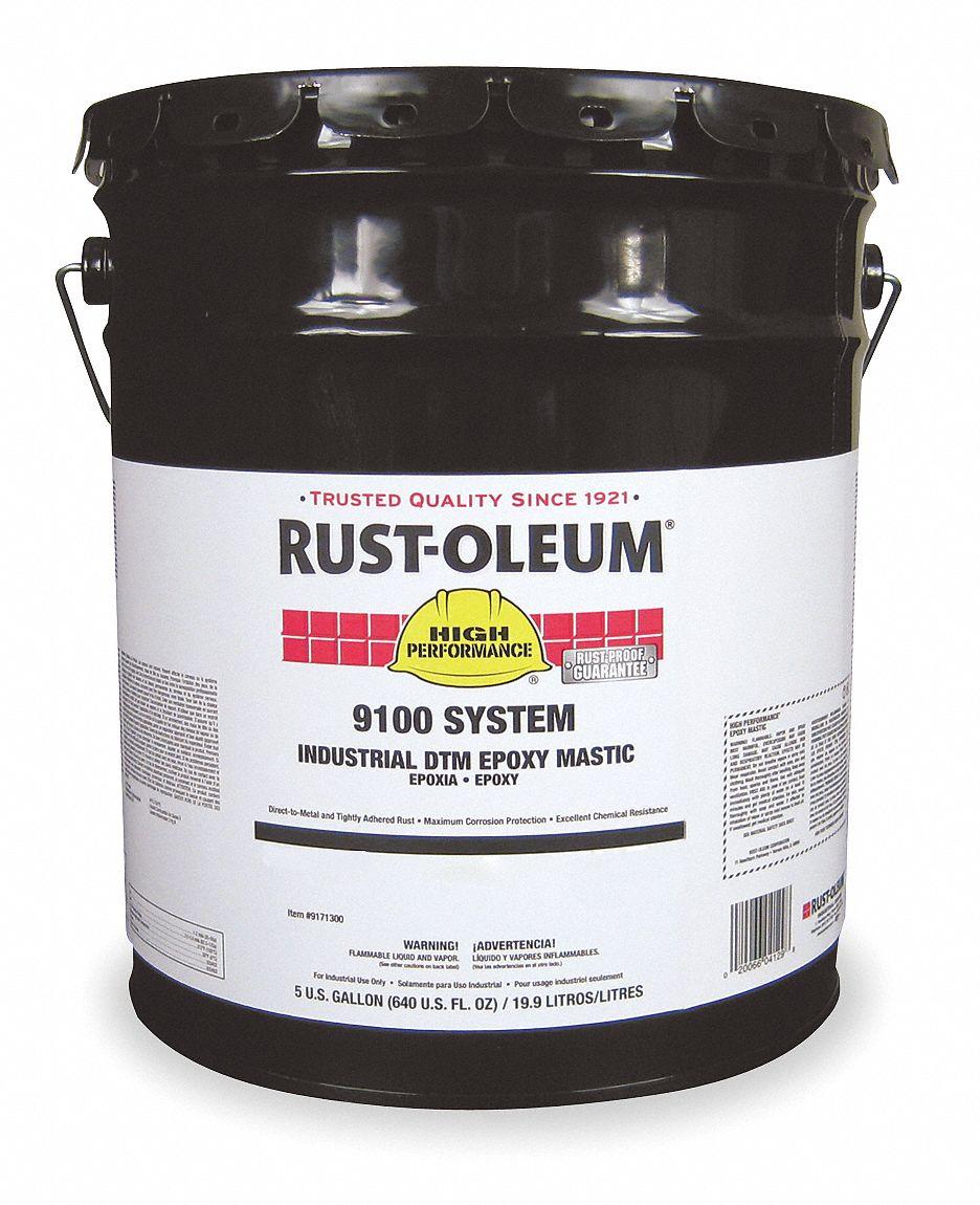 Rust Oleum Caution Yellow Epoxy Mastic Coating Semi Gloss