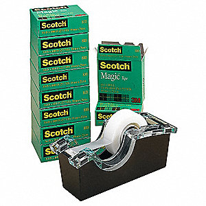 Office Tape w/Dispenser,3/4 In.,PK10